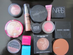 blushes, bronzers, and powders