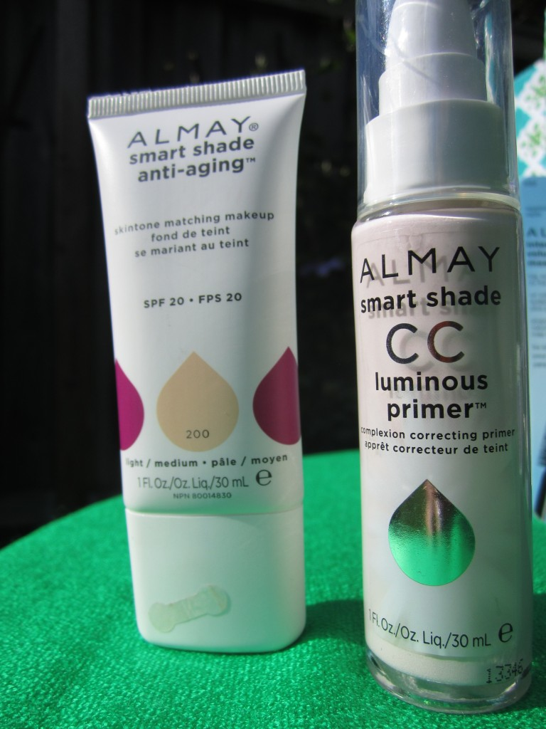 Almay smart shade anti aging makeup with SPF 30 in light/medium; Almay smart shade CC luminous primer