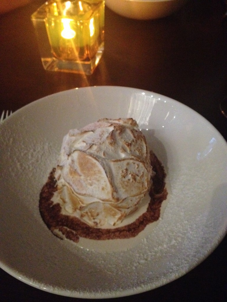 Stay puft marshmallow man baked Alaska.  I ate it all. NO SHAME.